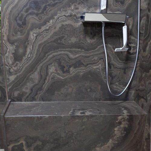 Marmor Dusche Gehrung
