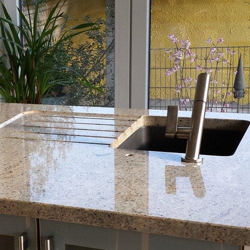 Küche Naturstein Arbeitsplatte Fräsung
