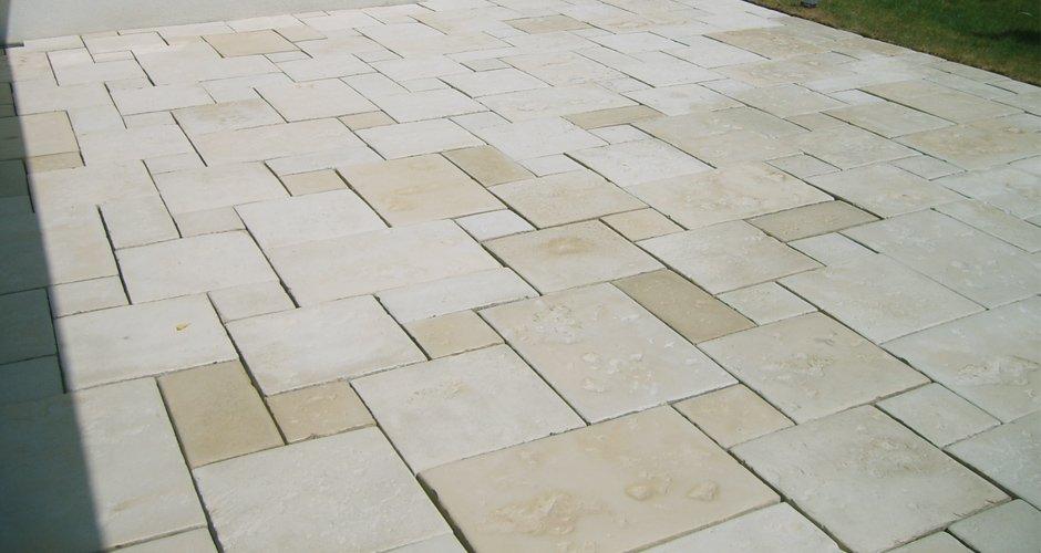 Kalkstein Terrasse nachher